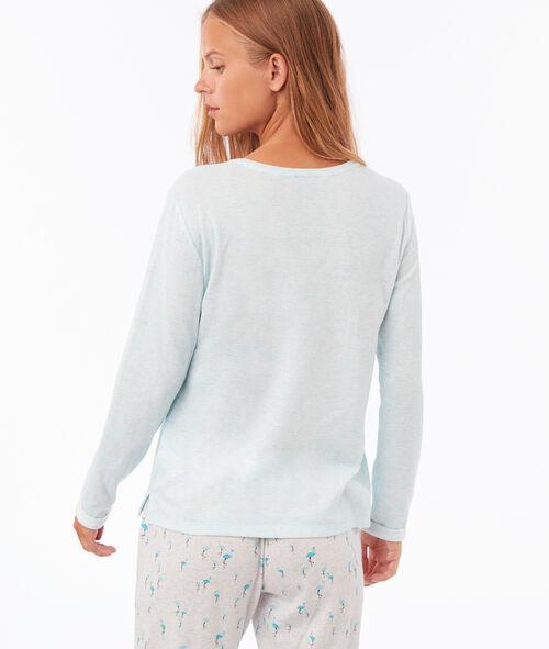 T shirt z detalami ze sztucznego futerka