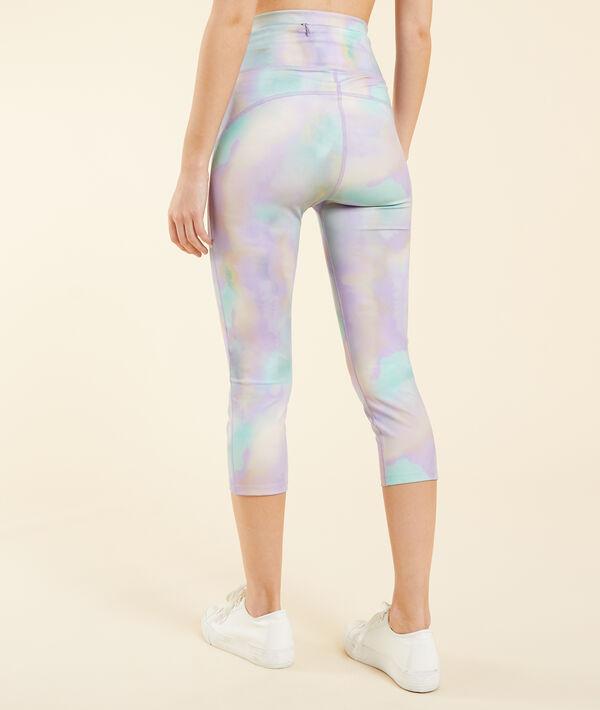 Sportowe krótkie legginsy z nadrukiem;${refinementColor}