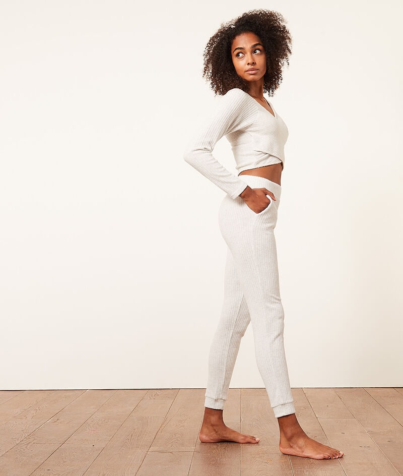 Prążkowane spodnie joggery;${refinementColor}