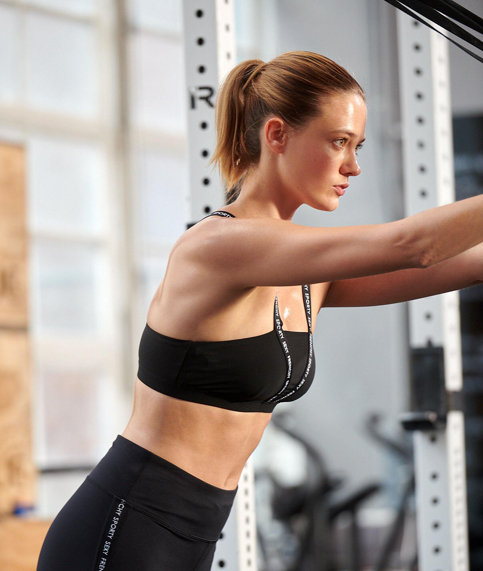 TEANO Biustonosz sportowy z ramiączkami z nadrukiem - średnie podtrzymanie