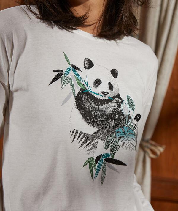 Bawełniany top z nadrukiem pandy