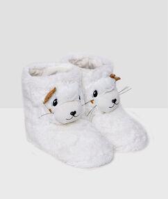 Bamboszki przytulaki - foki biały.