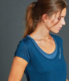 T-shirt sportowy z efektem 2w1 bleu.