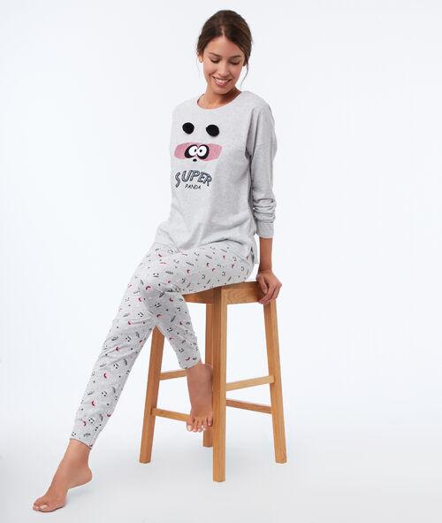 Spodnie w misie pandy