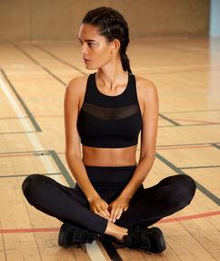 Biustonosz sportowy - średnie podtrzymanie, wyjmowane poduszeczki  noir.