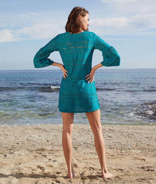 Ażurowa tunika plażowa z rękawami 3/4;${refinementColor}
