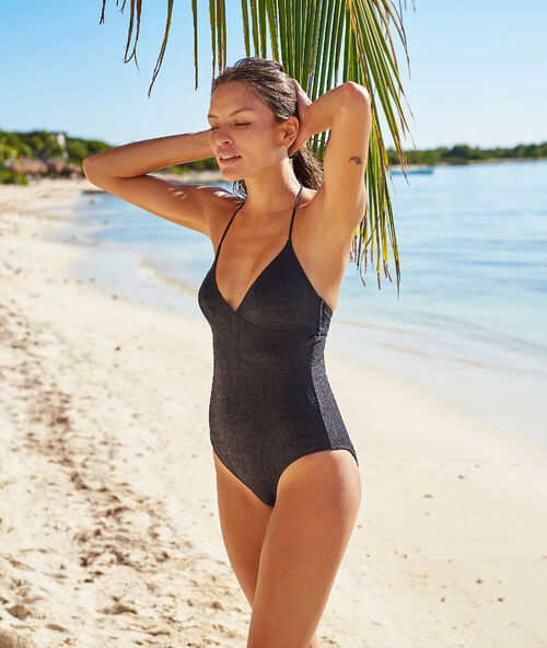 58638c92082efd Jednoczęściowy kostium kąpielowy z wycięciem na plecach