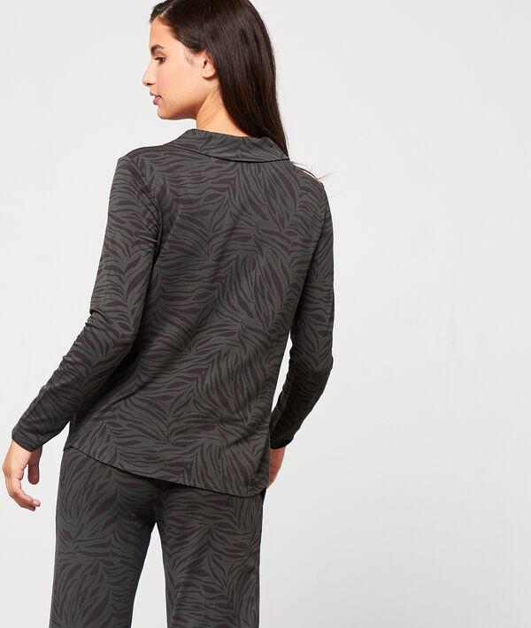 Koszula od piżamy w paski zebry