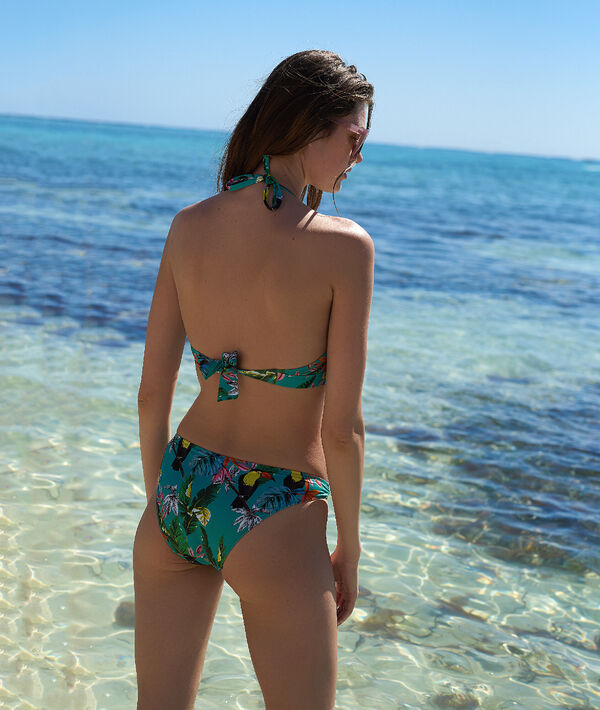 Klasyczny dół bikini, tropikalny deseń