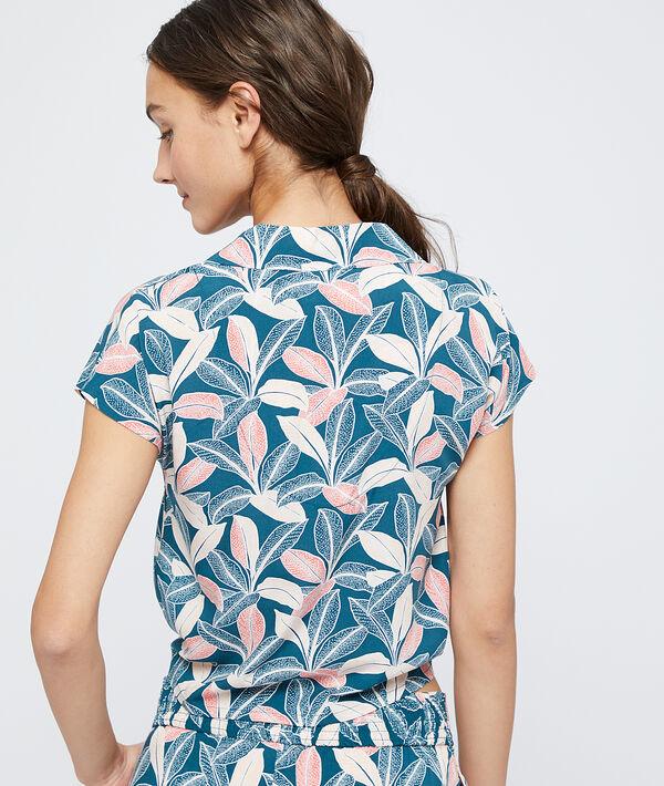Wiązana koszula od piżamy z wiskozy Ecovero;${refinementColor}
