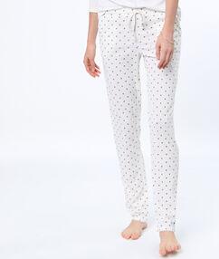 Spodnie w deseń blanc.