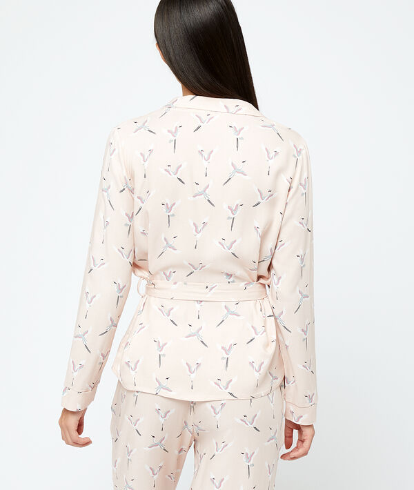 Koszula od piżamy z motywem ptaków;${refinementColor}