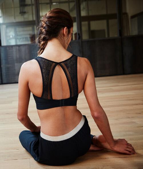Biustonosz sportowy z koronkowym tyłem - średnie podtrzymanie
