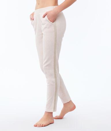 Spodnie w jednolitym kolorze rose pâle.
