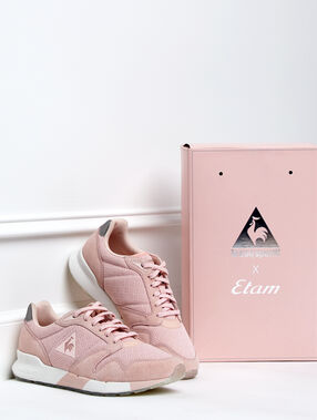 Le coq sportif x etam - pudroworóżowe buty sportowe rose poudre.