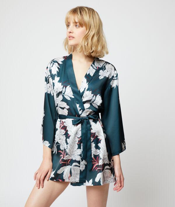 Satynowe kimono w kwiaty;${refinementColor}