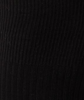 Zakolanówki z prążkowanego materiału noir.