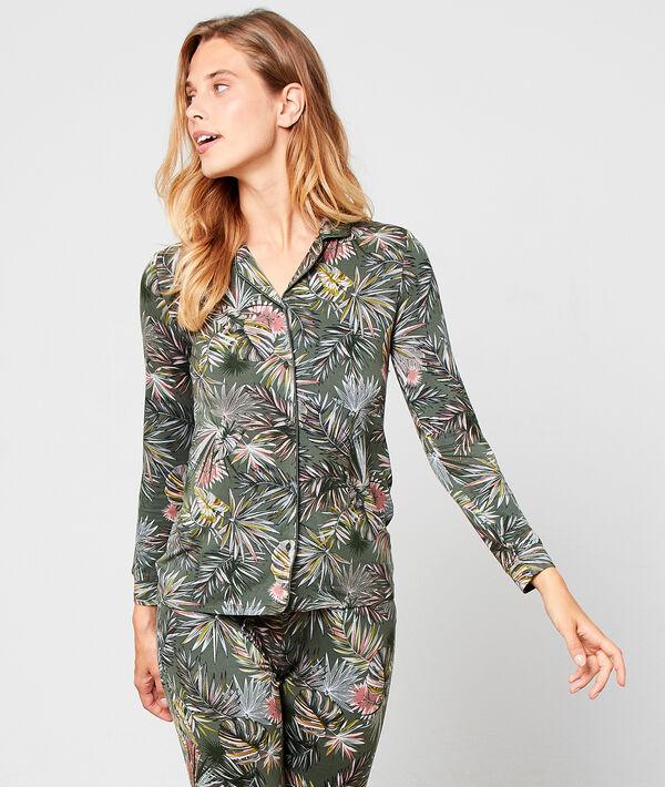 Koszula od piżamy w deseń w liście