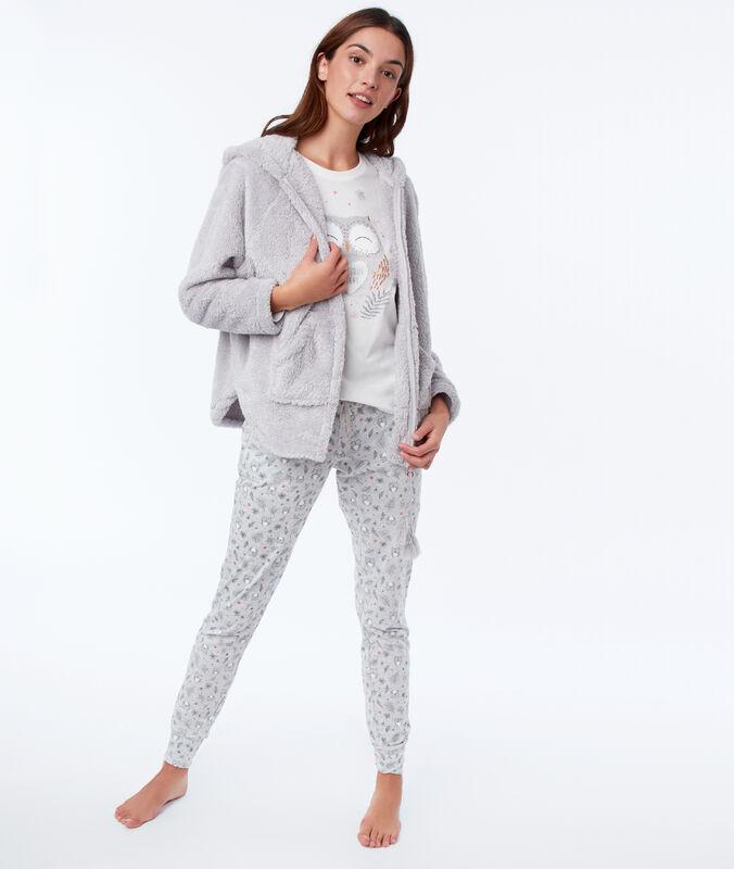 Piżama trzyczęściowa sówka gris.