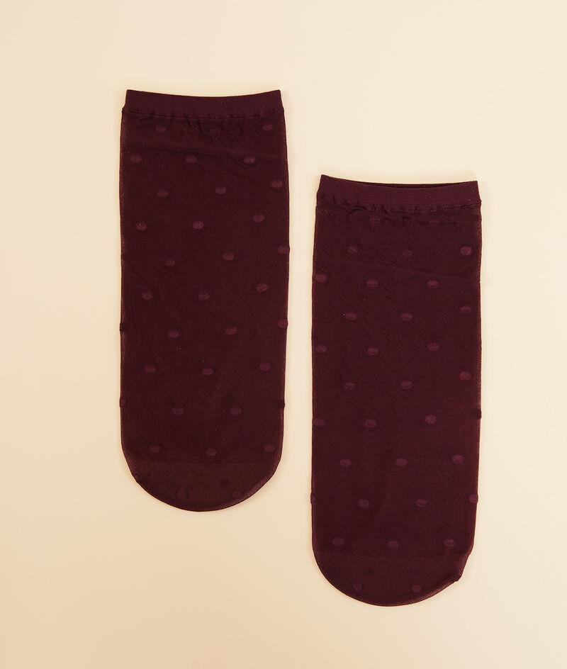 Skarpetki z satynowym haftem plumetis;${refinementColor}