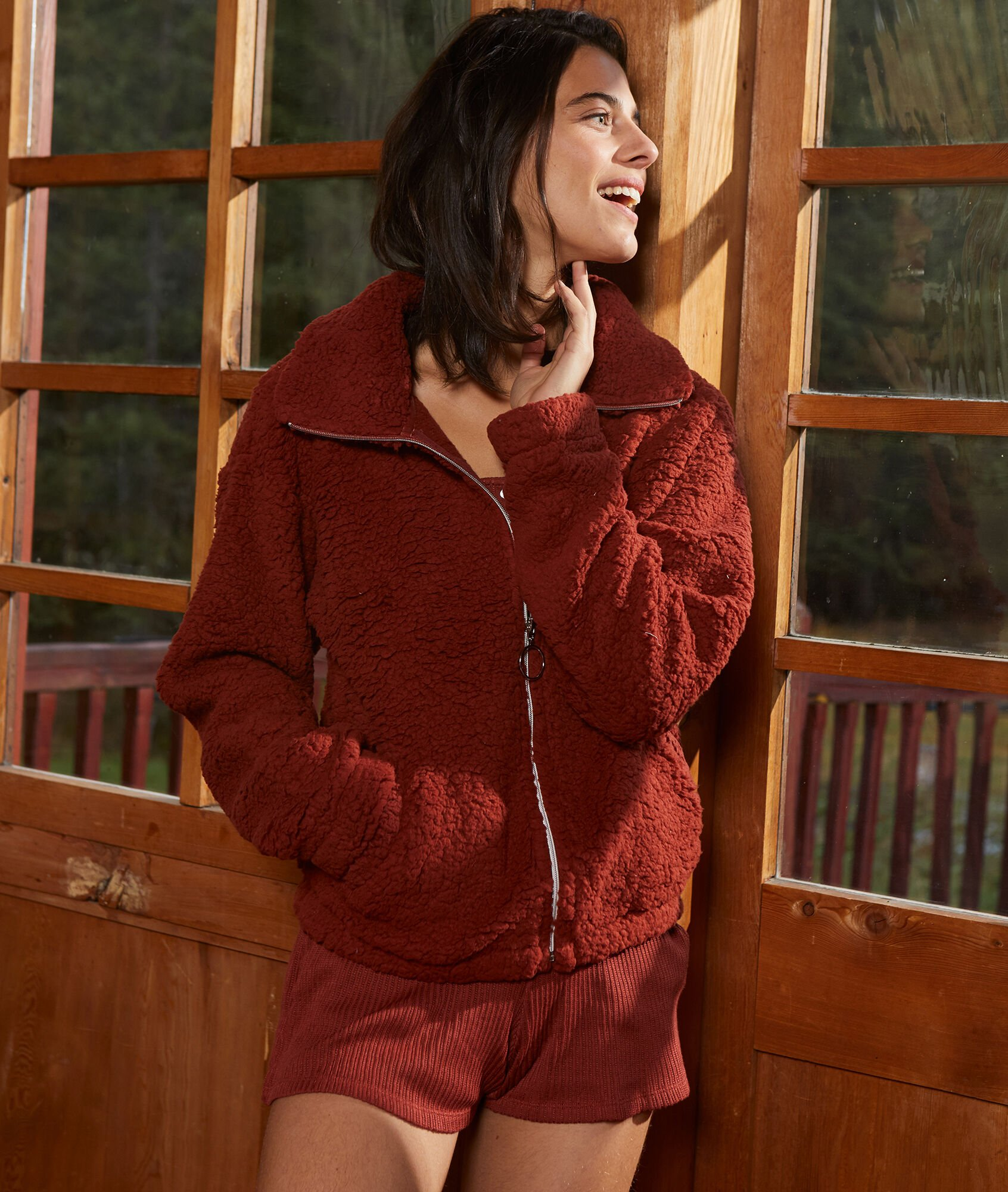TAYRON Bluza z przytulnego materiału