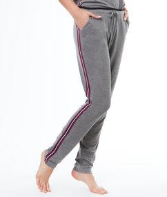 Spodnie z paskami po bokach gris.