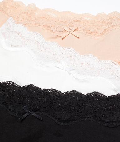 Nora - majtki biodrówki z bawełny - komplet 3 szt. multicolore.