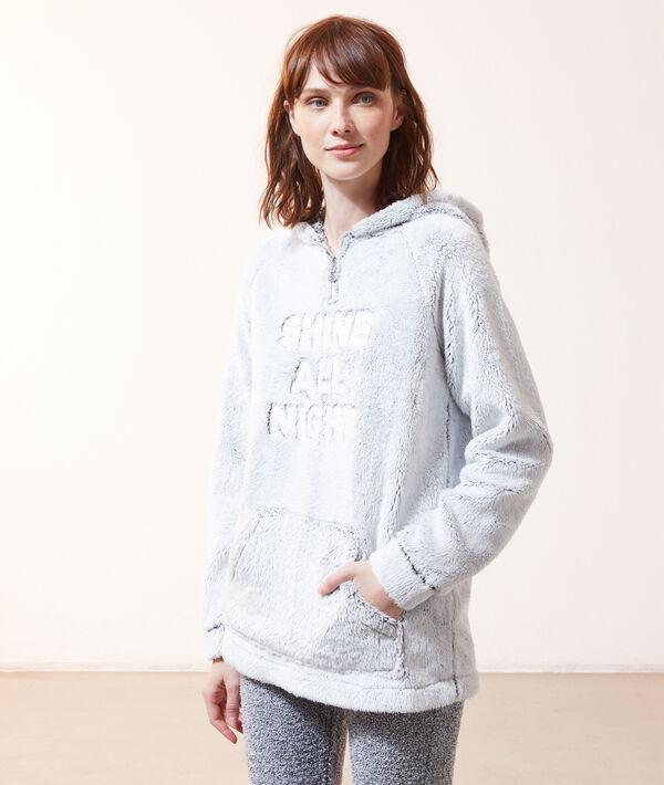 Pluszowa bluza z napisem 'shine all night';${refinementColor}