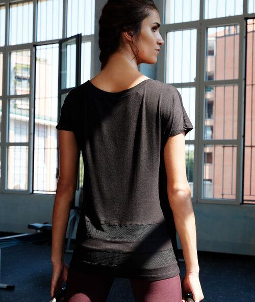 T-shirt ze wstawkami siateczki