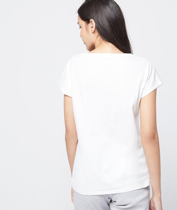 T-shirt z bawełny organicznej z napisem 'green lover'