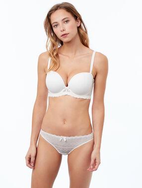 Koronkowe majtki biały.