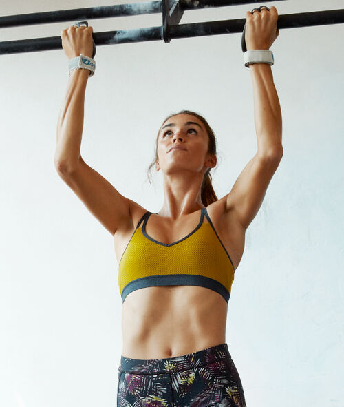 Biustonosz sportowy, wyjmowane poduszeczki - średnie podtrzymanie