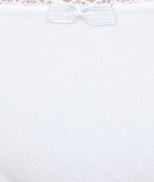 Majtki z materiału o dużej zawartości bawełny