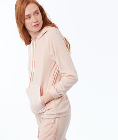 Aksamitna bluza homewear  rose.