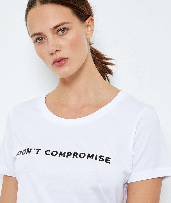 T-shirt z bawełny z napisem 'don't compromise'