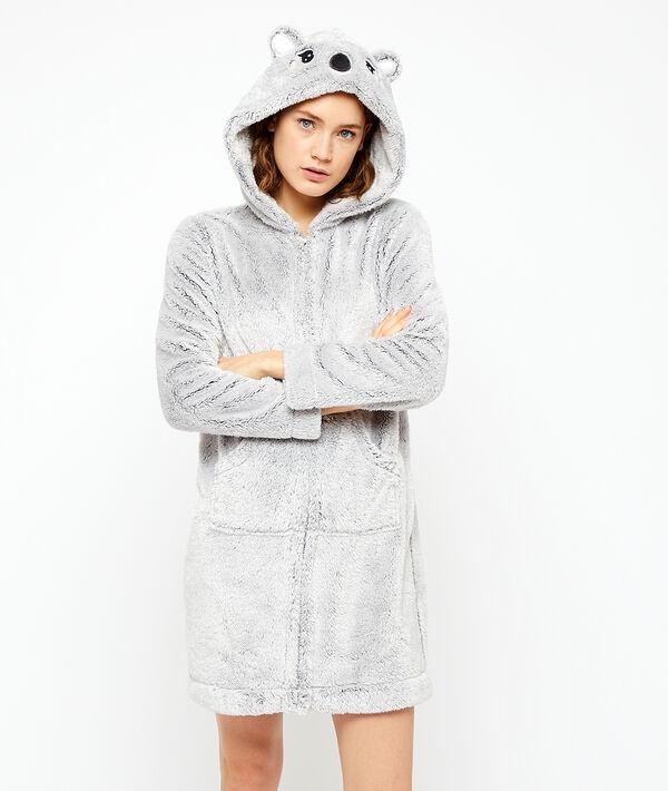 Szlafrok koala ze sztucznego futerka;${refinementColor}