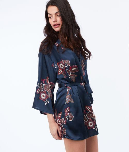 Szlafrok kimono w kwiaty