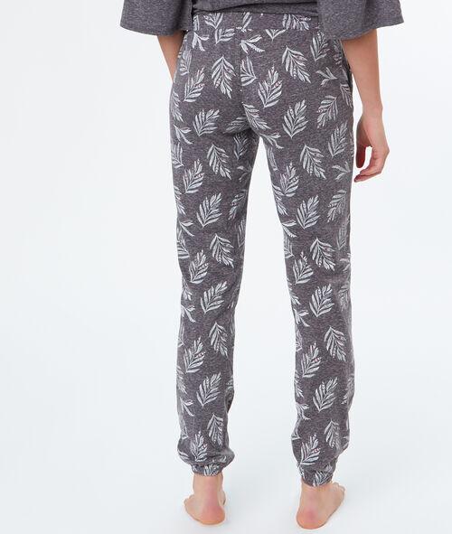 Pantalon imprimé feuille