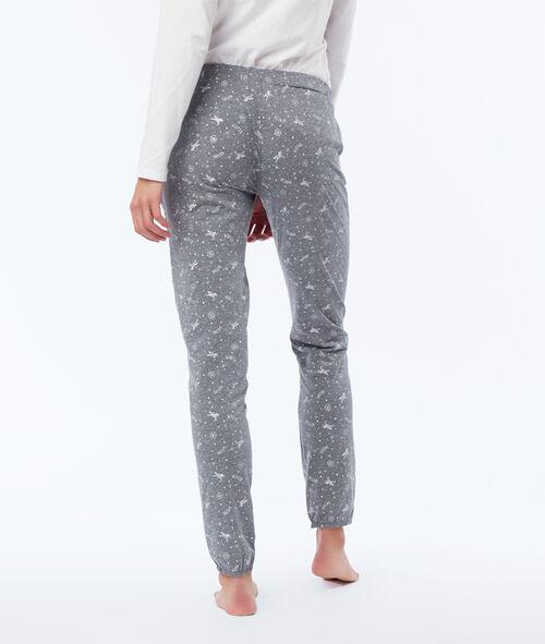 Piżama trzyczęściowa z suwakiem ozdobionym gwiazdkami
