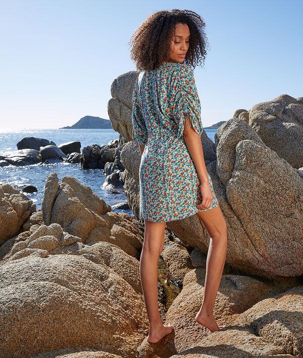 Wzorzysta tunika plażowa;${refinementColor}