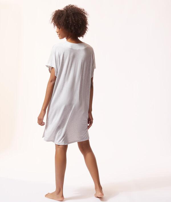 Koszula nocna ze wstawkami koronki;${refinementColor}