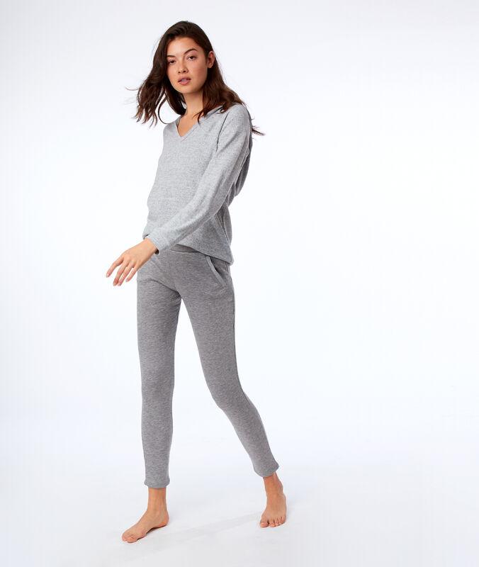 Spodnie homewear w jednolitym kolorze gris.