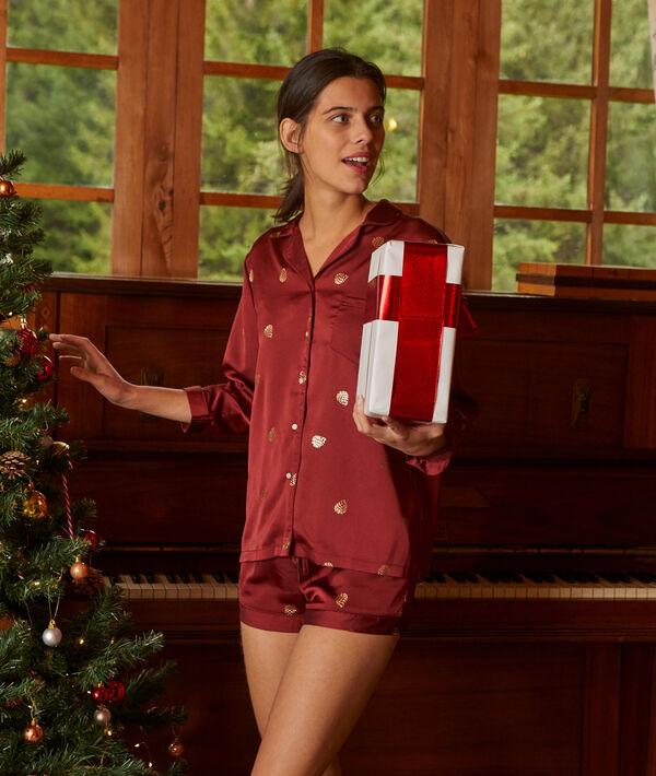 Koszula od piżamy z błyszczącymi detalami