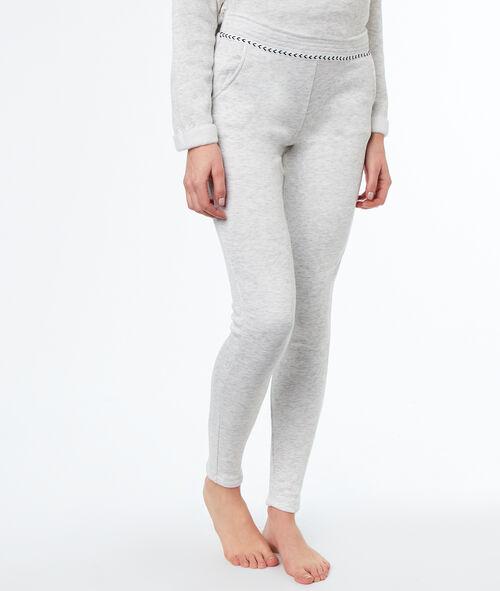 Spodnie homewear w deseń typu melanż