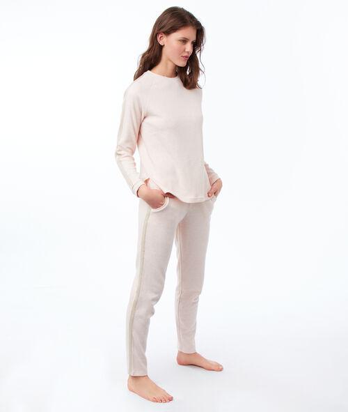 T-shirt w jednolitym kolorze z długimi rękawami