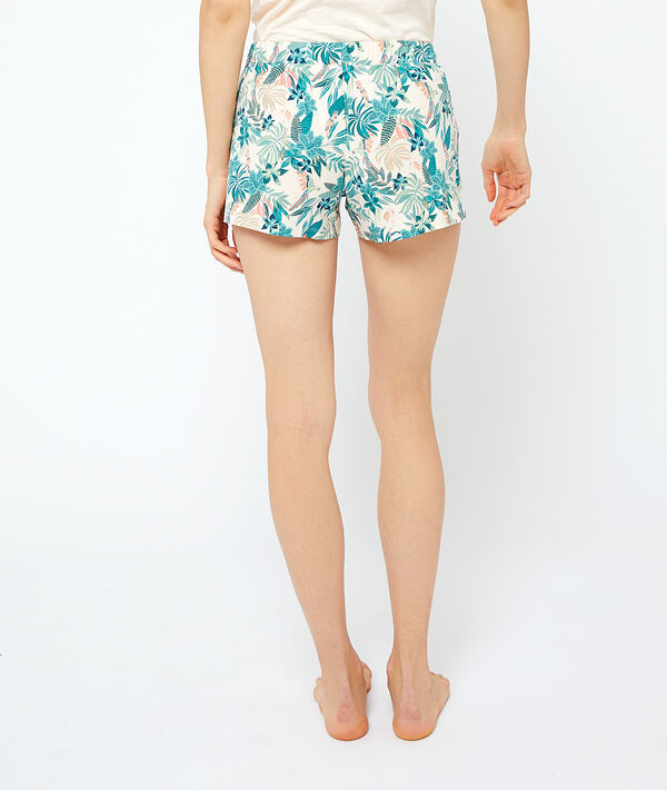 Piżamowe szorty z organicznej bawełny wiązane;${refinementColor}