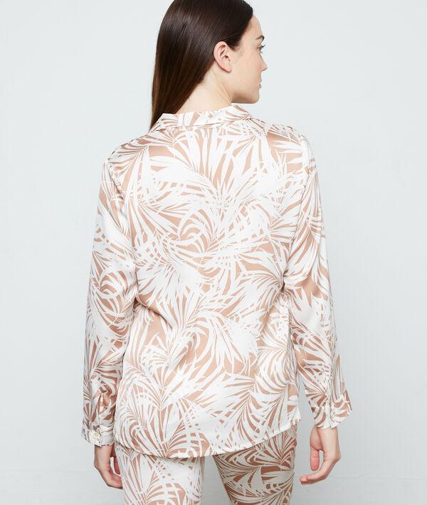 Koszula od piżamy z nadrukiem liści