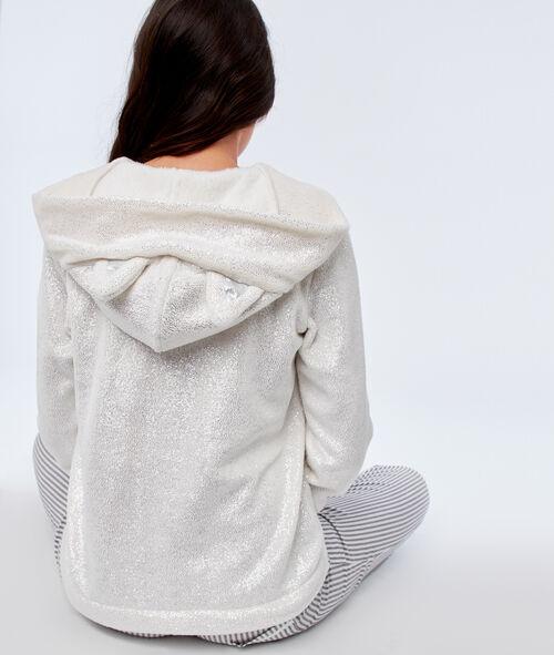 Bluza ze sztucznego futerka z kapturem