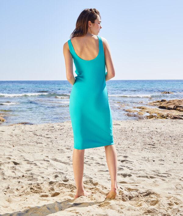 Sukienka plażowa z prążkowanego materiału;${refinementColor}