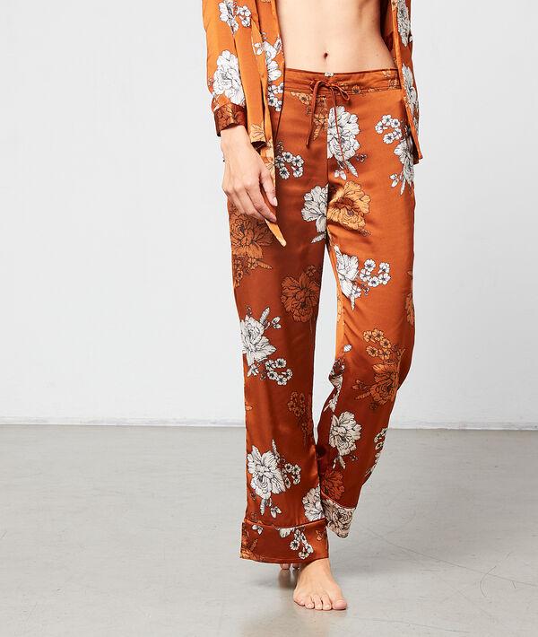 Satynowe spodnie w kwiaty
